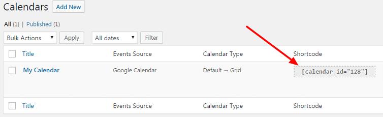 add Google calendar to your website