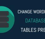 Change WordPress database tables prefix