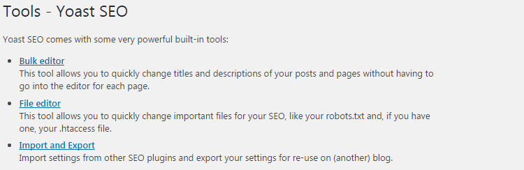 Yoast SEO plugin settings