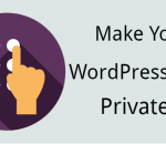 Make your WordPress blog private
