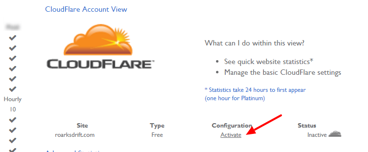 Enable CloudFlare on your website