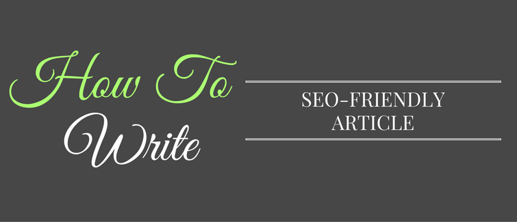 how to write seo friendly post