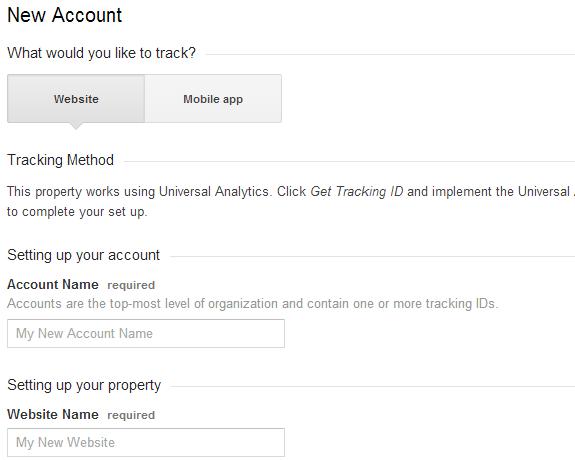 setting up google analytics for website