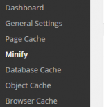 minify settings of plugin
