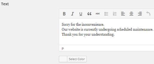 set your website on maintenance mode