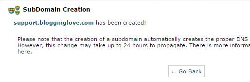 how to create a subdomain for wordpress