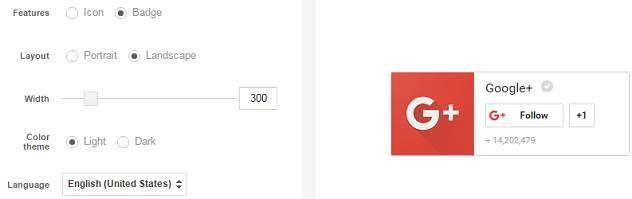 google badge widget