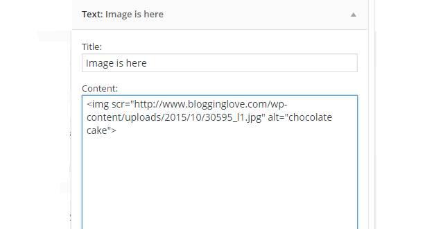 sidebar image widget