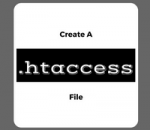 create a new .htaccess file