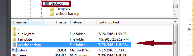 backup website using filezilla