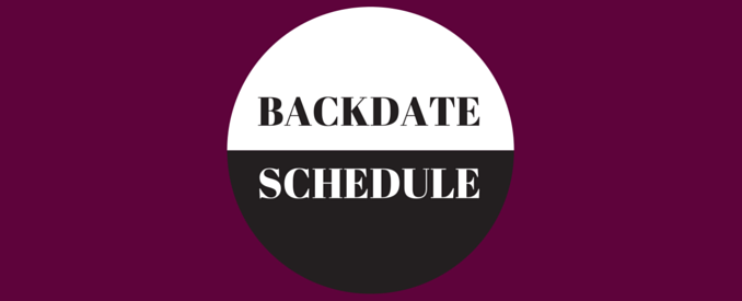 backdate and schedule