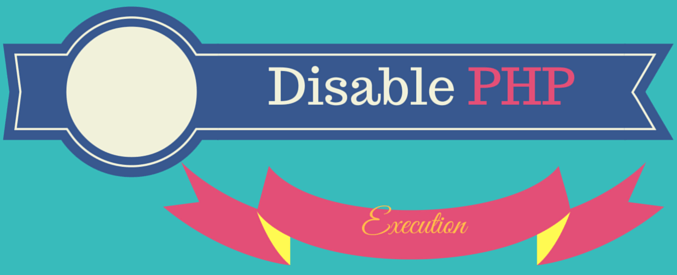 htaccess disable php execution