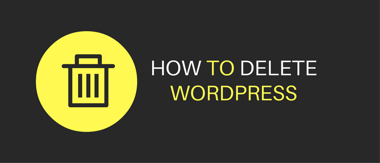 how to delete wordpress