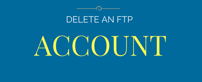 how to delete ftp account in cpanel