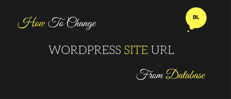 change wordpress url in database