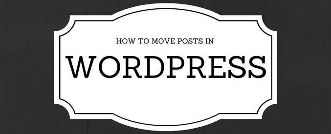 move post in wordpress