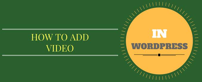 add video in wordpress