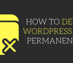 delete wordpress blog