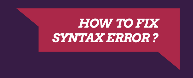 syntax error in wordpress