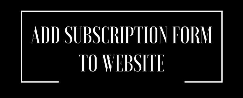 add subscription form to website