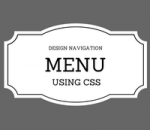 design navigation bar using css