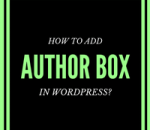 add author box in wordpress