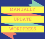 manually update wordpress