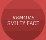 remove wordpress smiley face