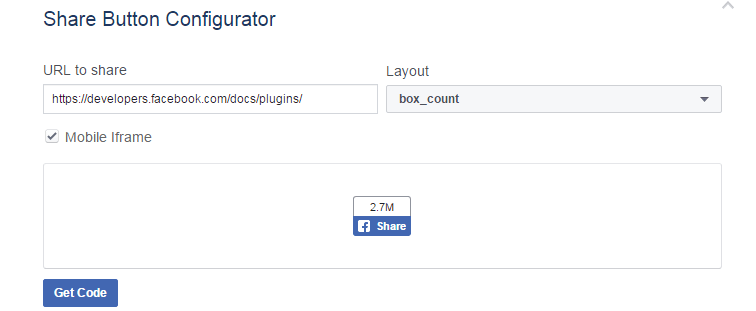 how to add facebok share button