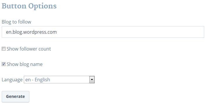 add wordpress follow button