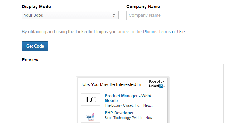 how to add linkedin button to website