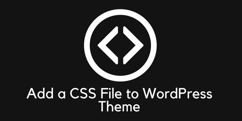 add css file in wordpress