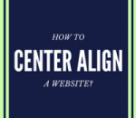 center align a website