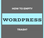 empty wordpress trash