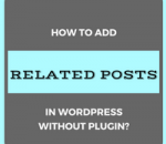add related posts in wordpress