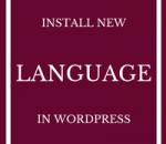 install new language