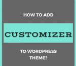 add customizer