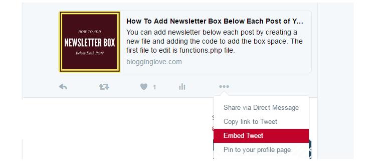 display tweets on website