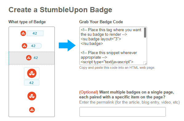 add Stumbleupon button to Website