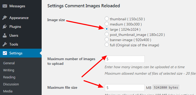 allow users to upload images to wordpress blog