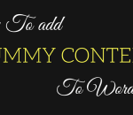 add dummy content to wordpress
