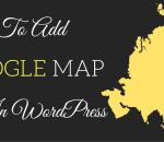 add google map in wordpress