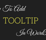 add tooltip in wordpres