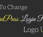 change wordpress login page logo url