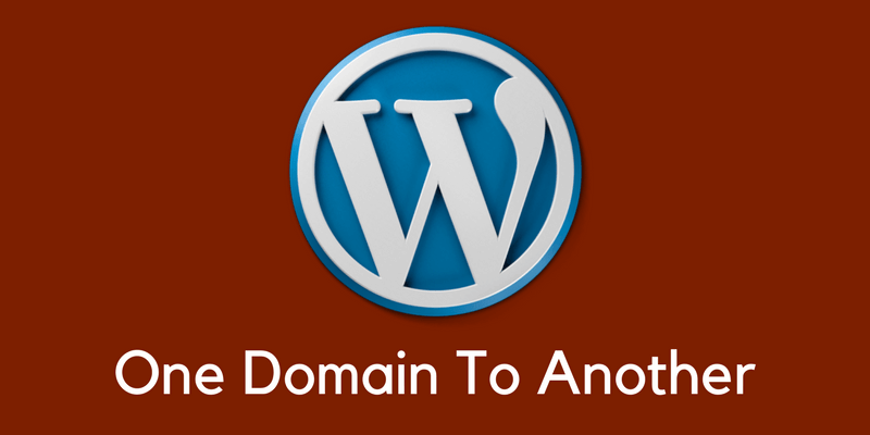move wordpress to another domain name