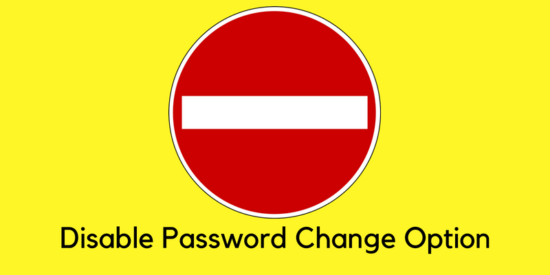 disable password change option from wordpress