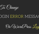 change login error message
