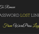 remove password lost link
