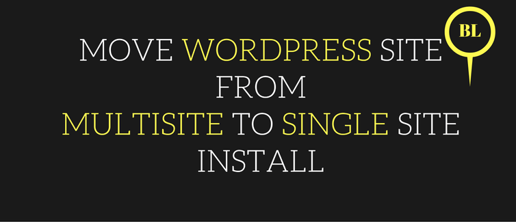 move WordPress site from multisite to the single site