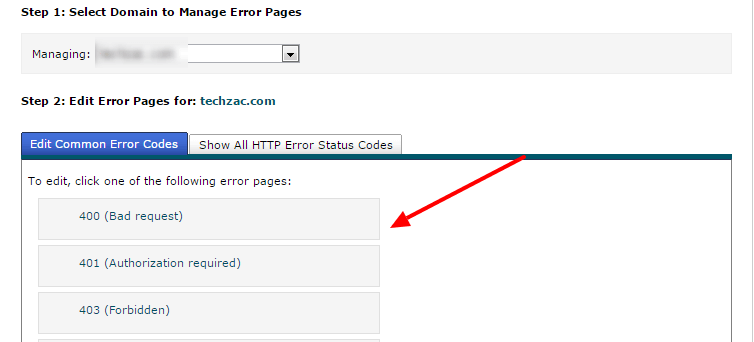 create custom error pages